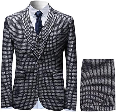 スリーピース メンズ スーツ 千鳥 紳士服 チェック 大きいサイズ