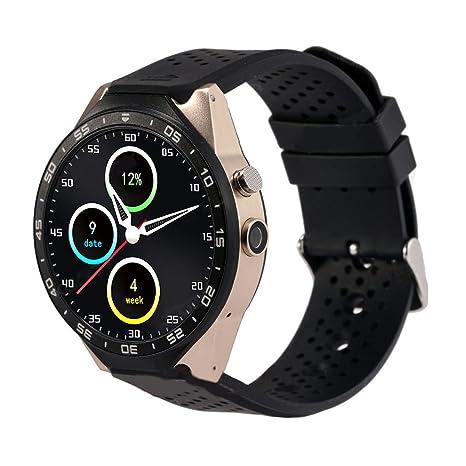 TOOGOO (R) kw88 reloj inteligente Android 5.1 Quad Core 4 GB GPS WIFI,