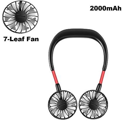 LU USB Mobile Phone Mini Mute Large Wind Power Portable Fan Color : Black