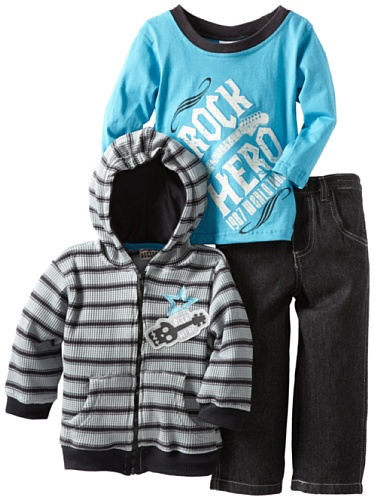 Little Rebels Little Boys' 3 Piece Rock Hero Pant Set