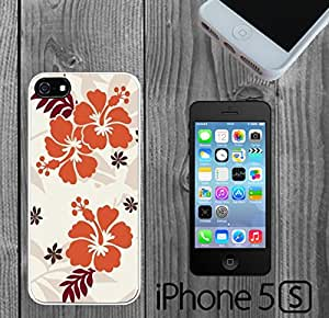 Hibiscus Flower Romance Custom made Case/Cover/Skin FOR iPhone 5/5s -White- Rubber Case
