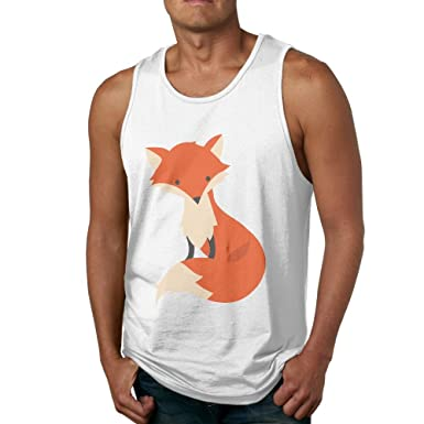 9b8095f07f9e4 Amazon.com  Men s Tank Tops Gym Vests Shirt Orange Fox Bodybuilding Workout  Vest  Clothing
