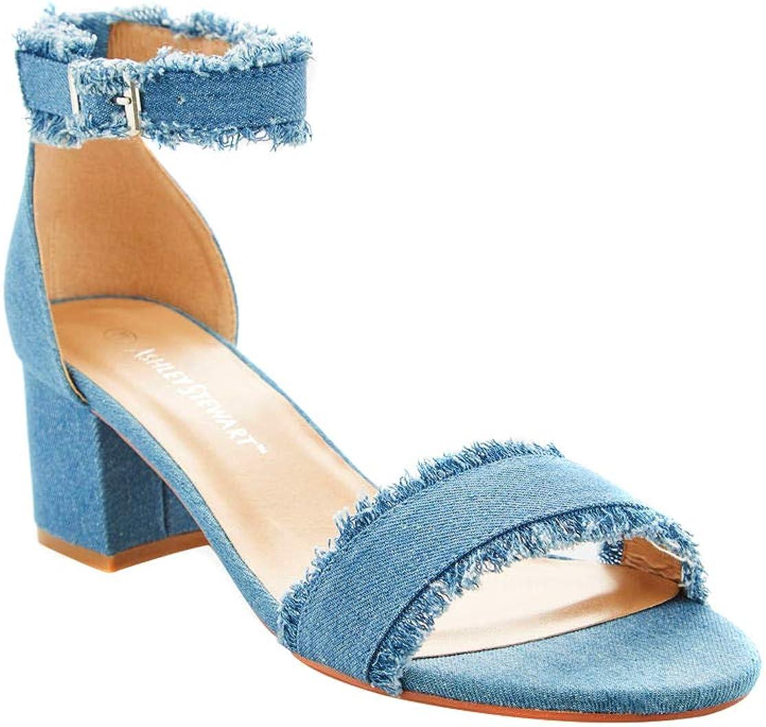 Charles Albert Wide Width Dress Sandals for Women Comfortable Low Block Heel Ankle Strap Pump