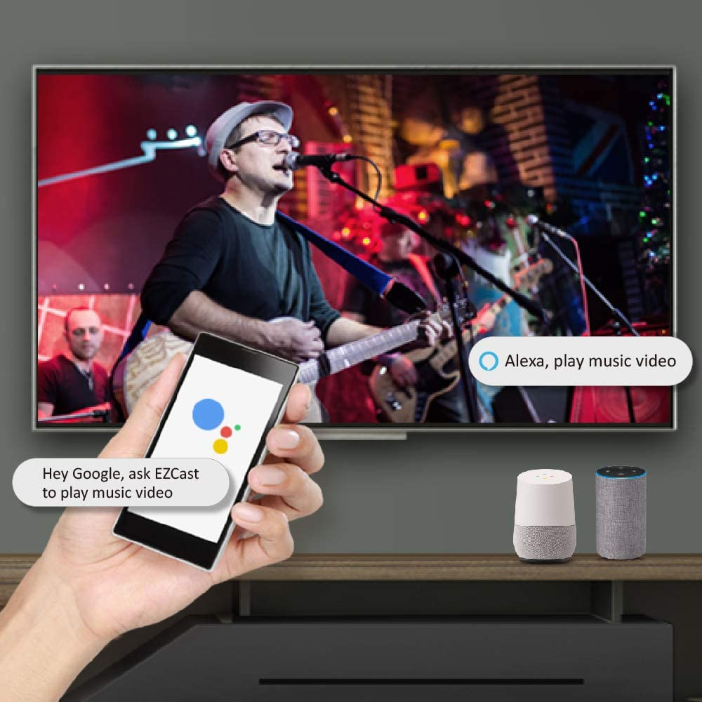 MagicEther Full HD Wireless Display Receiver Connect The Router via Ethernet Cable iOS//Android//Mac OS//Windows Support OTA Updates Easily Setup Google Home//Alexa Voice Control