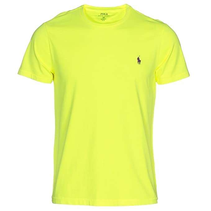 82de8b0344 Polo Ralph Lauren - T-Shirt - Uomo Giallo Fluo Giallo: Amazon.it ...
