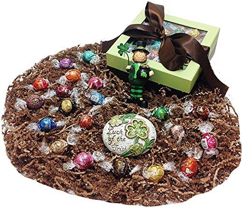 Irish Ribboned St. Patricks Day Gift Basket Box – Lindt Gourmet Lindor or Truffles Chocola ...