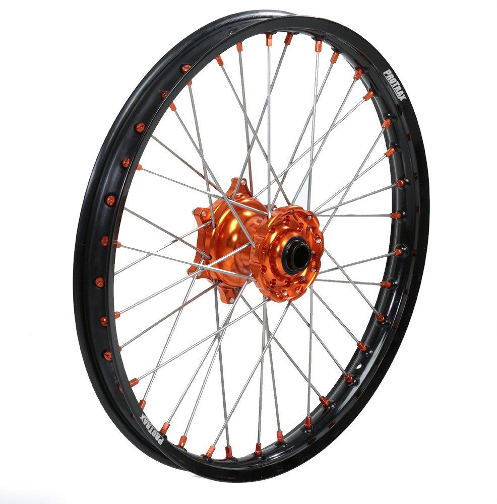 ProTrax Complete Wheel Rim Set Orange Hub Front/&Rear 21/&19 125SX 250SXF 15-17