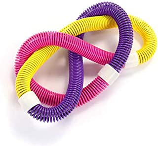 Cerchio Hula Hoop Adulti Ponderato,Esercizio Perdita di Peso Professionale Fitness Design Colorato Elastico Primavera Hoola Hoop