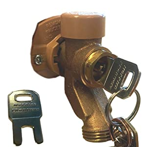 Easiest Faucet Outdoor Lockout Key Security System | Only Use with Woodford Brand Outdoor Water Faucets | for Garden Hose Spigot Child/Unauthorized Users Restriction | Easy Setup, Key Only, No Spigot