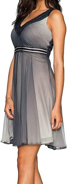 Schwingendes Kleid Cocktailkleid Gr 46 Schwarz Grau Farbverlauf 920955 Amazon De Bekleidung