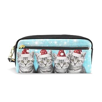 Bonie - Estuche para lápices, diseño de gato con gorro de ...