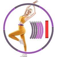 XWT Hula Hoop voor volwassenen, 6 secties Splice roestvrij stalen Hula Hoop diameter 92 cm Bump Massage Design Hula Hoop…