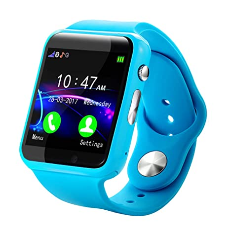 YongYI - Reloj inteligente para niños con Bluetooth W82 de 1,54 pulgadas, reloj