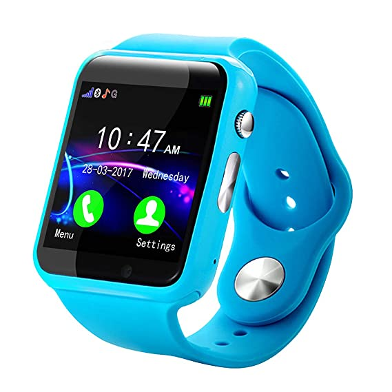 GETMORE7 Bluetooth Smartwatch, 1.54-inch Anti-Lost Long Standby Pedometer GPS Fitness Tracker
