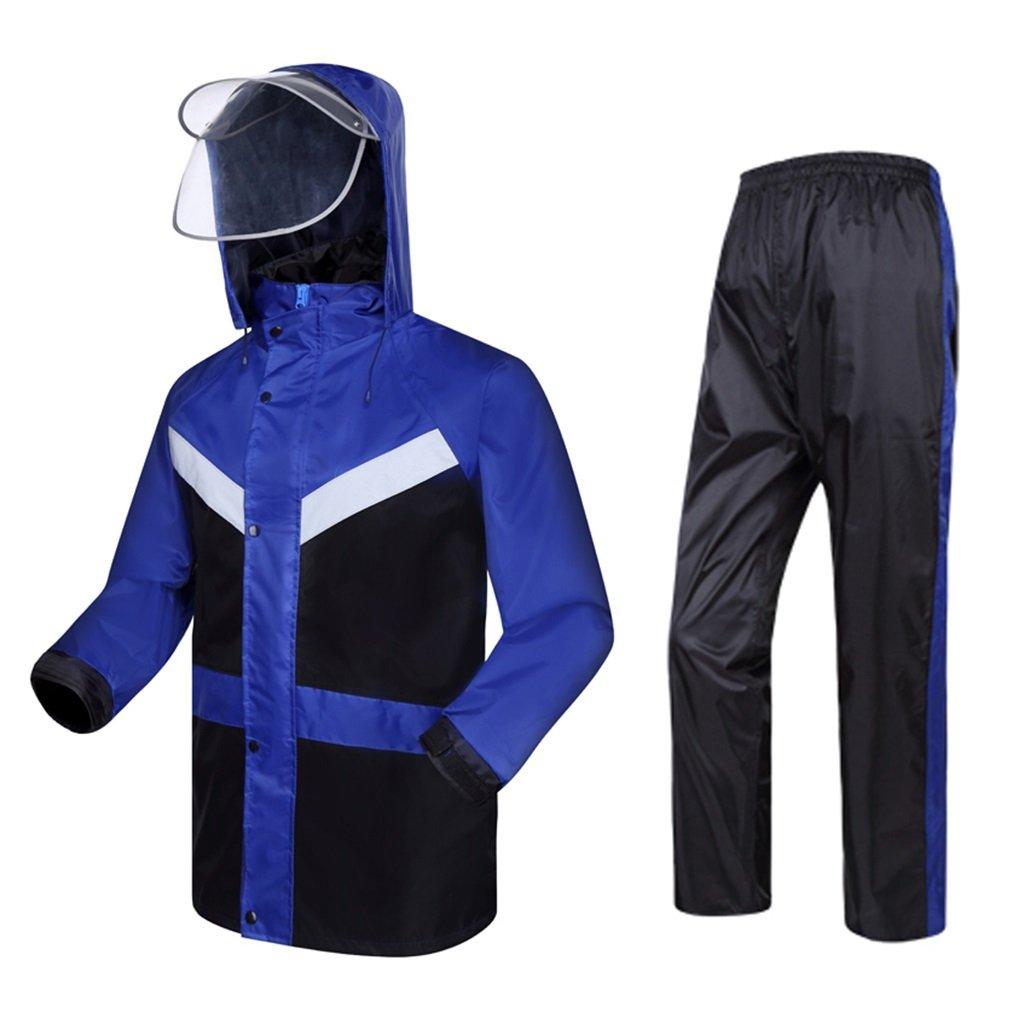 Medium Dongyd VêteHommests de Pluie pour Les Hommes VêteHommests de Pluie réutilisables Veste de Pluie et Pantalons de Pluie Adultes imperméables au Vent Coupe-Vent à Capuchon Travail en Plein air (Taille   M)