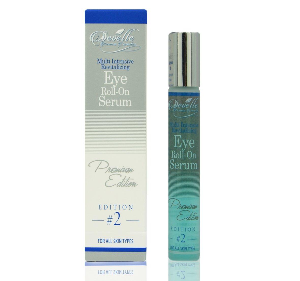 Develle Eye Roll-On   10 ml bottle   Eye lotion   Eye serum  BLUE Premium Edition   Anti wrinkle eye serum