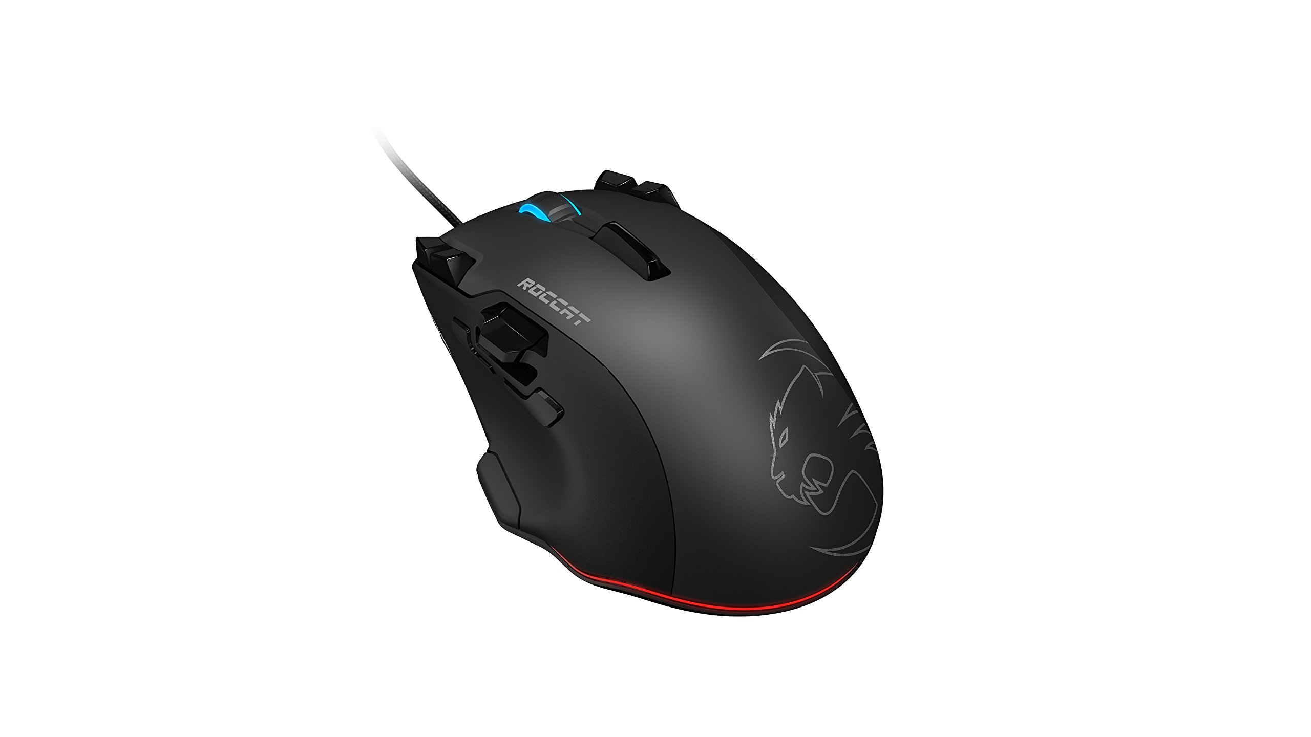 ROCCAT Tyon R3 Programmable Laser USB Gaming Mouse with Tracking Control, Customizable Thumb Paddle and Fin Switch, Onboard Memory and MCU, 8200 DPI and RGBY Illumination for PC, Laptop – BLACK by ROCCAT