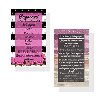 Amazon paparazzi spanish cleaning and care cards 50 pack paparazzi spanish cleaning and care cards 50 pack paparazzi jewelry business cards tips colourmoves