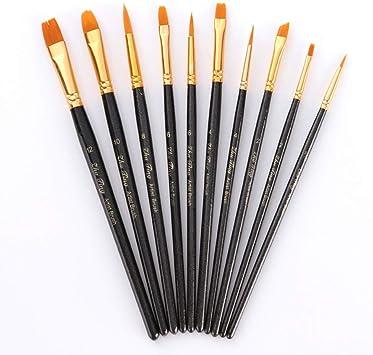Lot de 3 pinceaux fins Poils Pinceau Set Décoration À faire soi-même Peinture