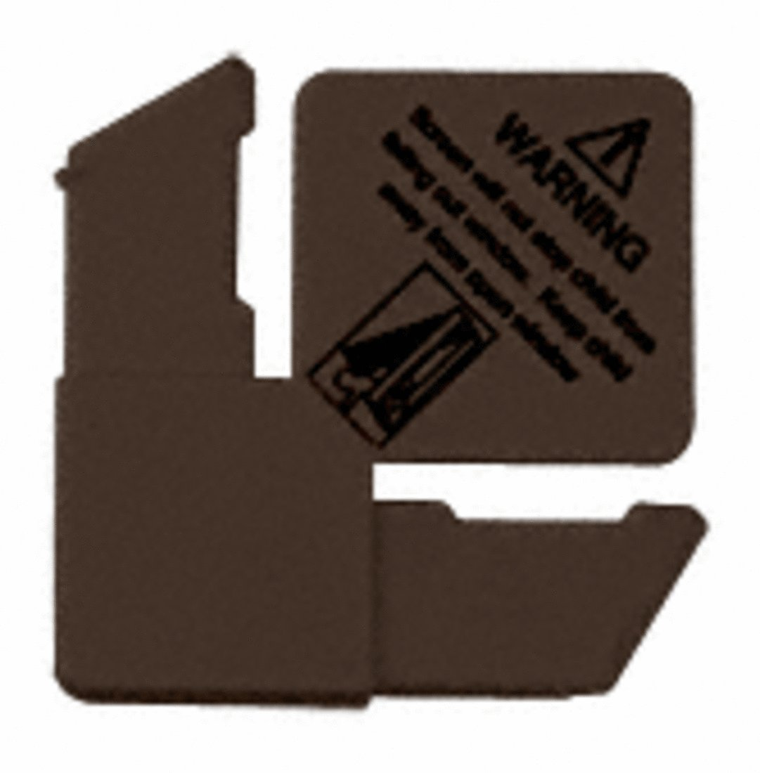 CRL 5/16'' Bronze Square Cut With Lift Tab Plastic Screen Frame Corner With Warning - 100 Pack