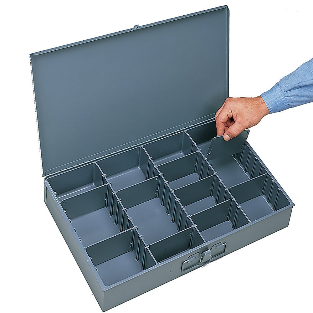 Durham 119-95 Large Scoop Compartment Boxes, Adjustable, 1'' x 1'' x 1''