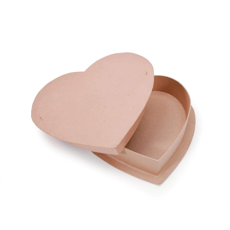 Bulk Buy: Darice DIY Crafts Paper Mache Box Heart 12 in (12-Pack) 2871-70
