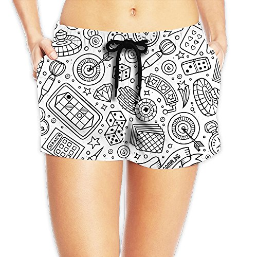 Women's Sexy Game Comics Running Shorts