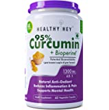 Healthyhey Nutrition Curcumin With Bioperine 1300Mg (Ultra Pure) Organic Turmeric, Vegetable Caps With Piperine