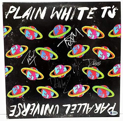 Plain White TS Band All 5 Autographed Signed Memorabilia Parallel Universe Album Vinyl Lp Bas #A78395
