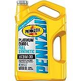 Pennzoil Platinum Euro 5W-30 Full Synthetic Motor Oil, 5 qt