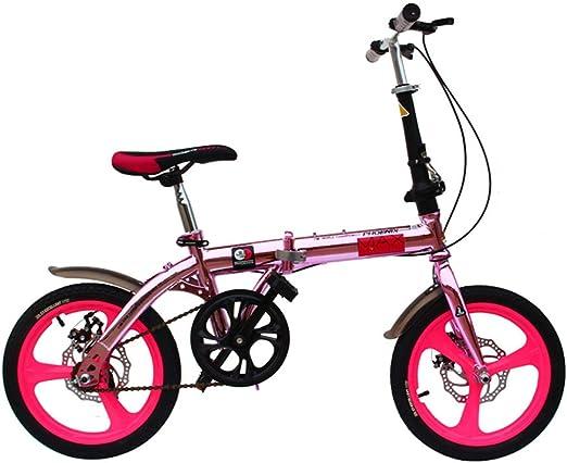 DT La Nueva Bicicleta Rosa para niños 6-7-8-9-10 años de Edad ...