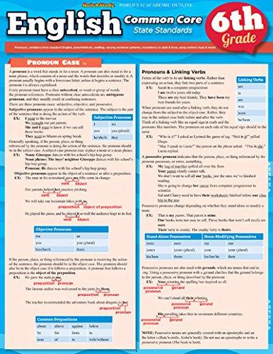 English Common Core 6Th Grade (Quickstudy) pdf