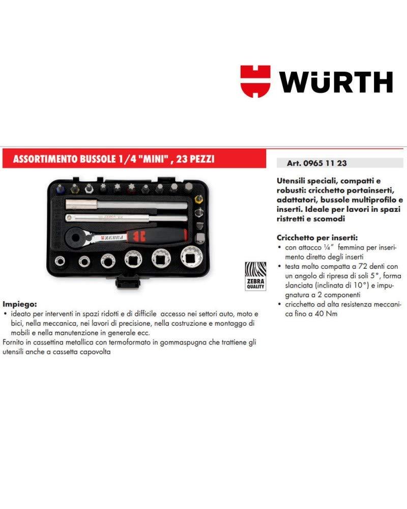 W/ürth 1//4/pulgadas Multi de surtido de llaves de mini