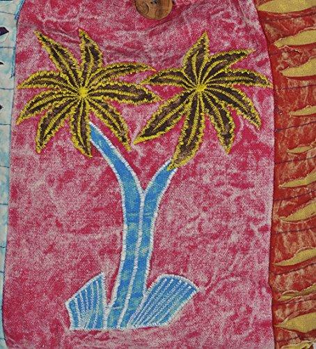 Vintage Patch décoratif Arbre Art Design Mini sac de coton côté