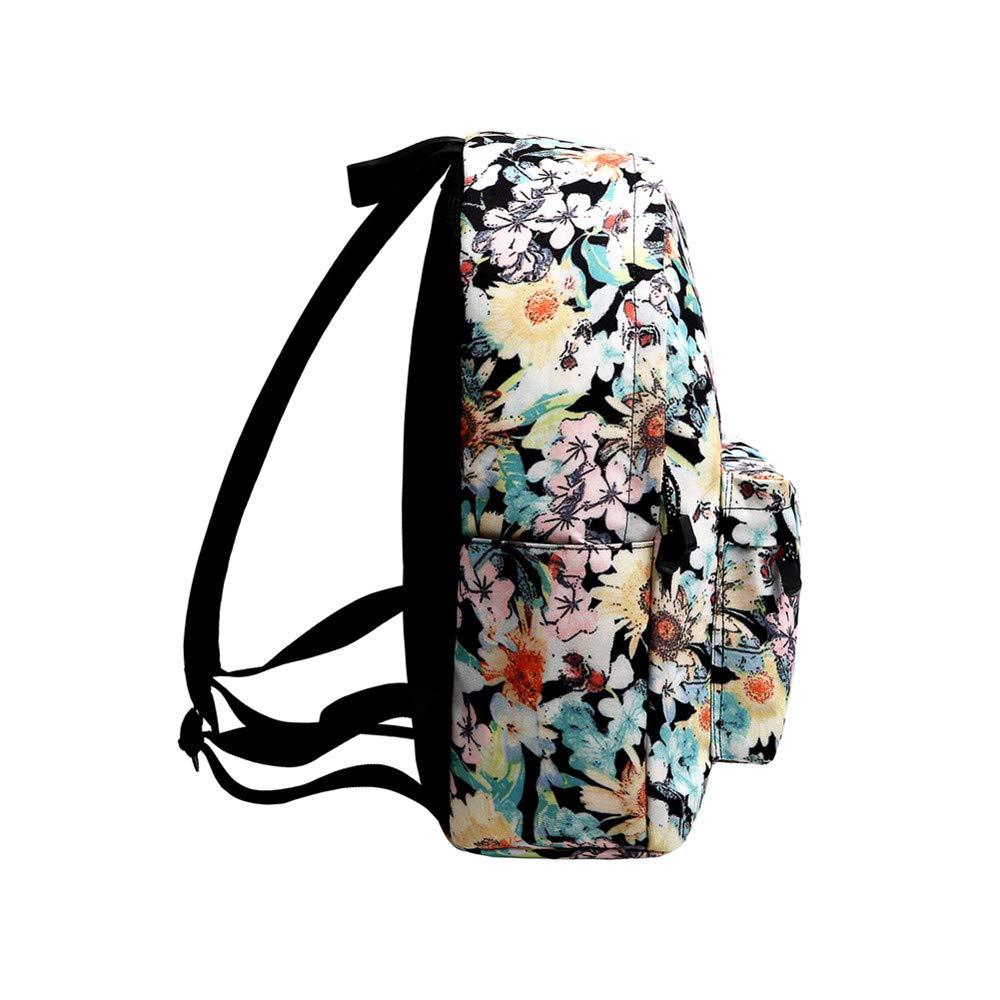 Canvas Backpack, Businda Cute Backpacks School Bookbags Printing Zipper Backpacks Fashion School Bags Casual Canvas Laptop Protective Rucksack for Kids Adults Boys Girls by Businda (Image #4)
