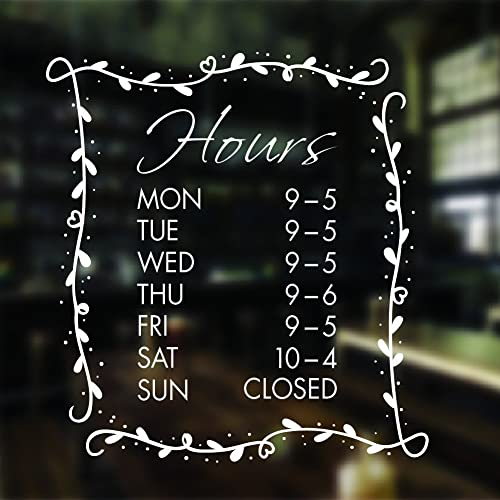 Opening hours sign opening times sign for shop window sticker v19 open closed sign business hours