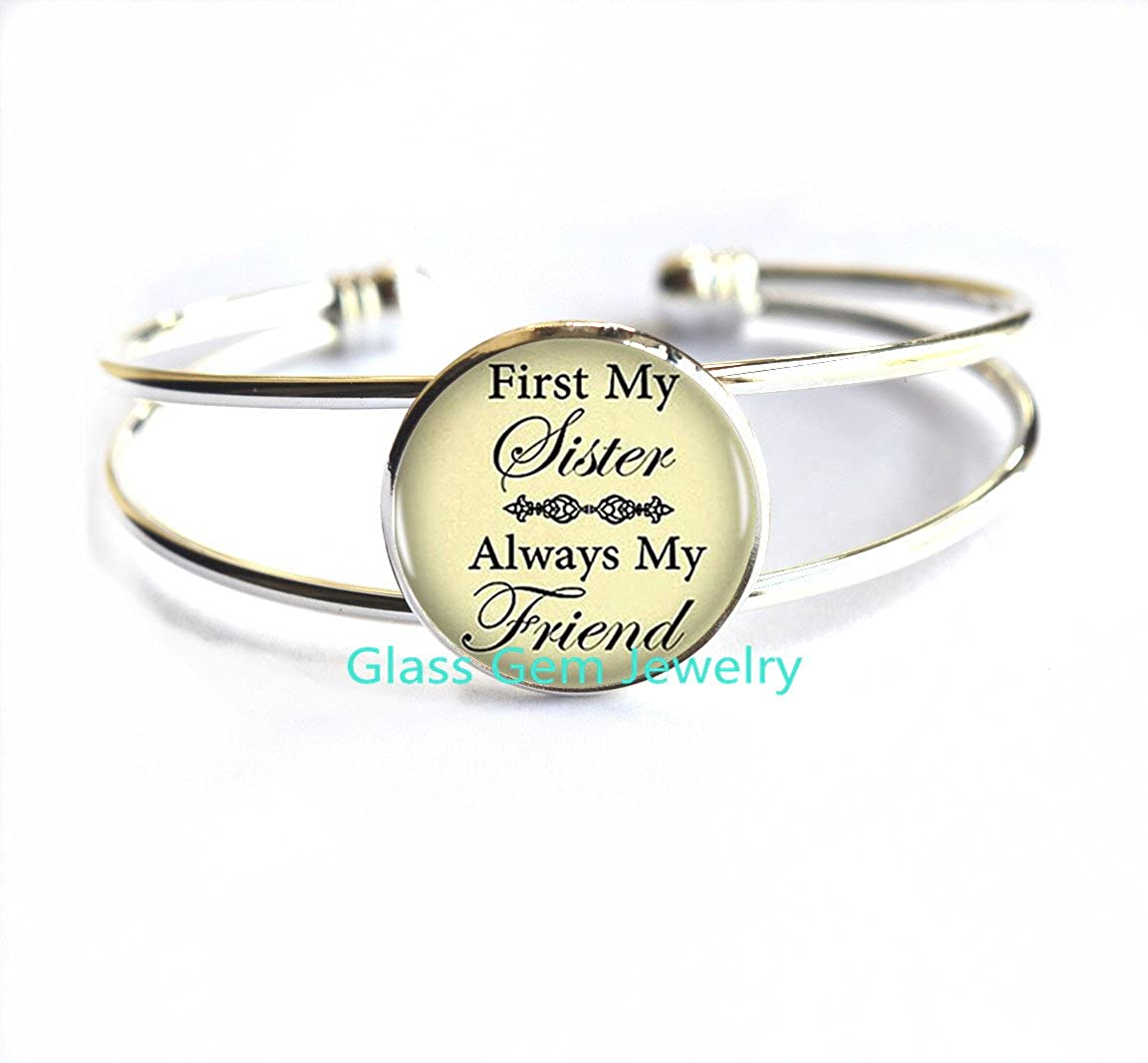 Sisterly Love Gift.XY83 Birthday Gift Sister Sister Birthday Bracelet Bracelets Bracelet First My Sister Always My Friend