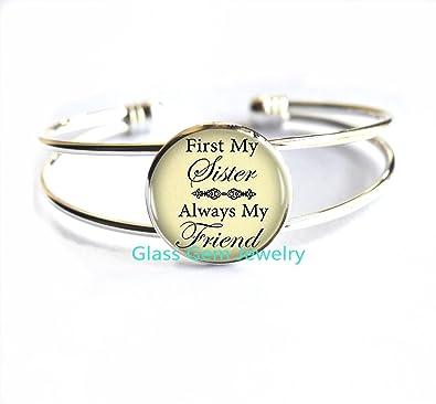 Bracelets Bracelet QuotFirst My Sister Always Friendquot
