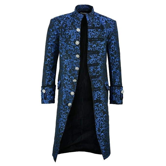 Amazon.com: Blazer Slim Fit Casual Bohe Impreso Steampunk ...