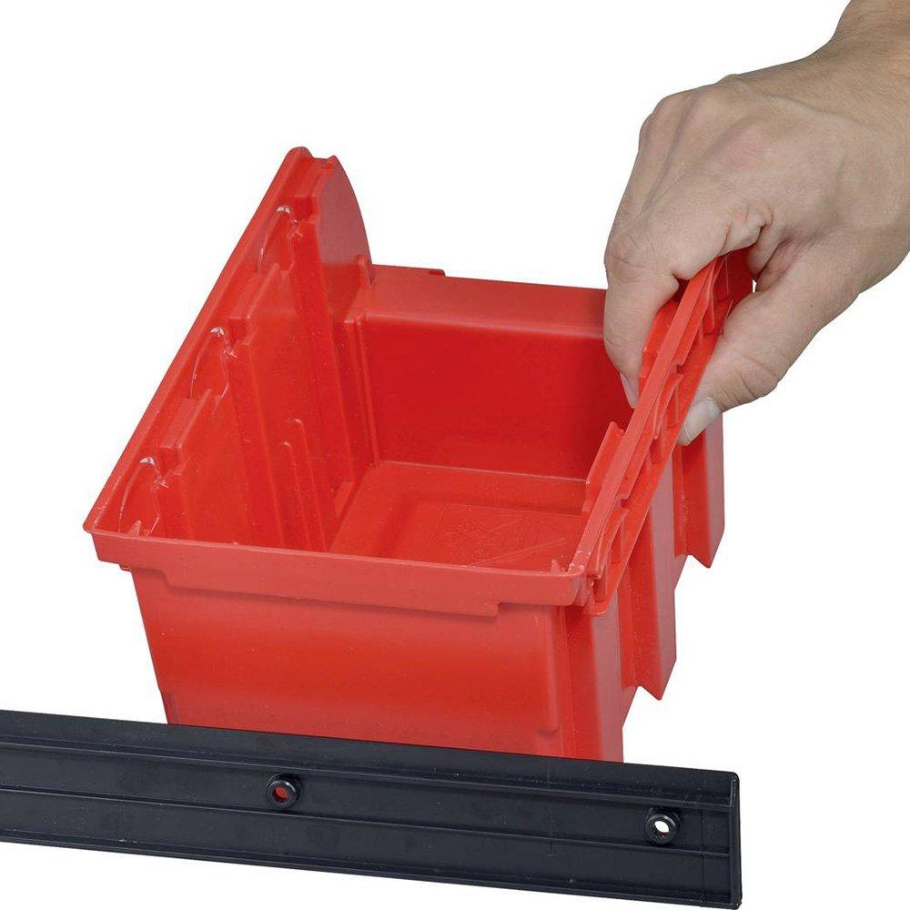Allit 457060 Storage Bin SetProfiplus Set 2 7Piece in Red