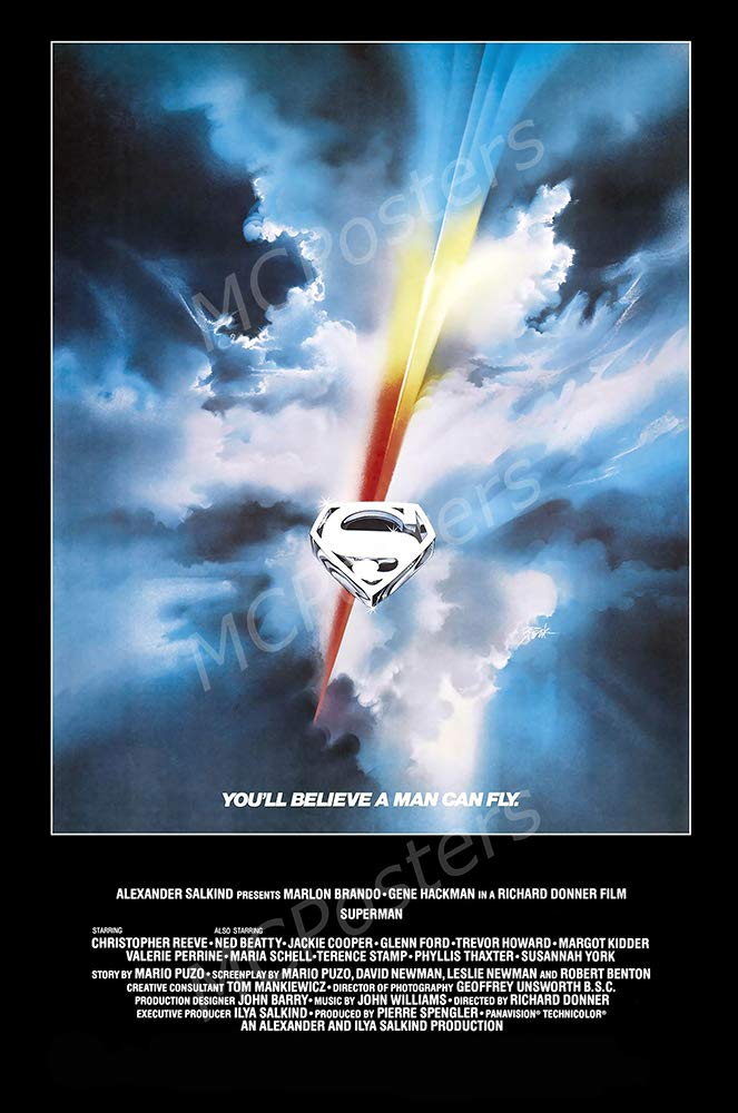 "MCPosters - Superman 1978 Glossy Finish Movie Poster - MCP914 (24"" x 36"" (61cm x 91.5cm))"