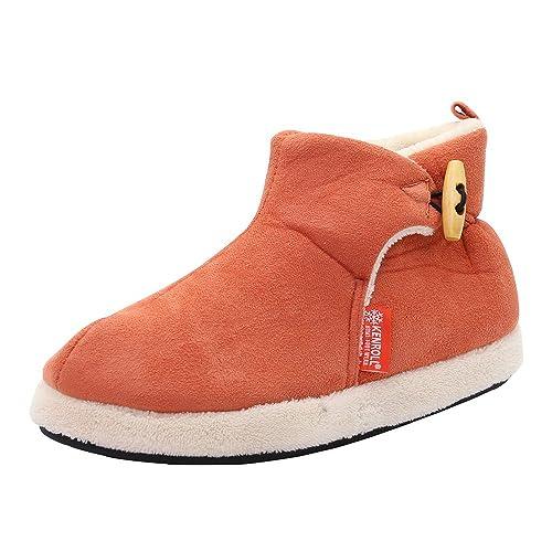 Kenroll Zapatillas Botines de Gamuza Antideslizantes Botas para la Nieve Invierno Interior Casa Calzado para Mujer: Amazon.es: Zapatos y complementos