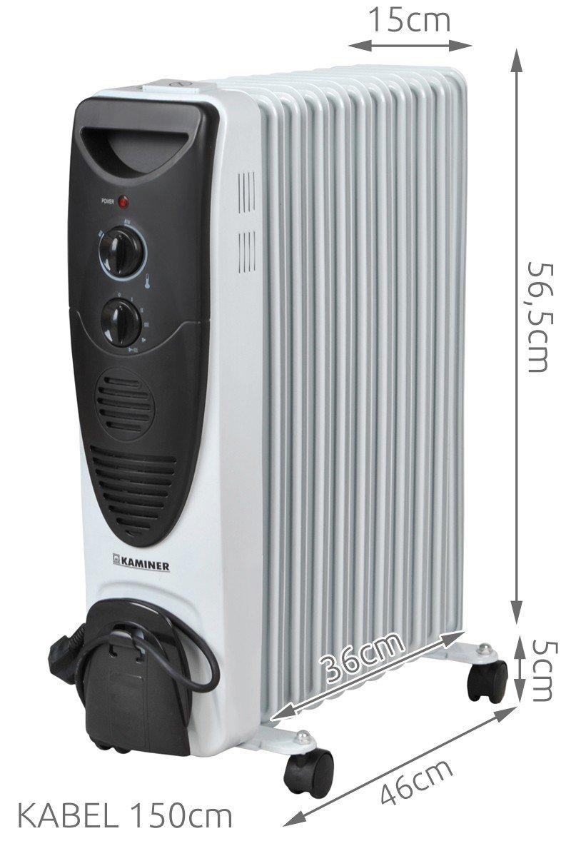 Iso Trade Radiador eléctrico de Aceite Turbo 2900W - 11 ...