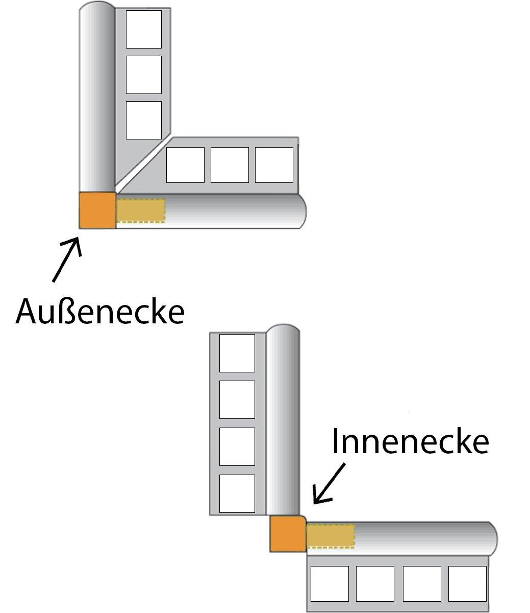 L/änge 2,50 m 12,5 mm H/öhe 10 St/ück Setpreis Edelstahl V2A gl/änzend Quadratprofil Fliesenprofil Fliesenschiene