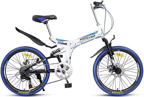 FEE-ZC Universal City Bike - Bicicleta Plegable de 22 velocidades y 7 velocidades con Freno de Disco mecánico para Adultos Unisex: Amazon.es: Deportes y aire libre