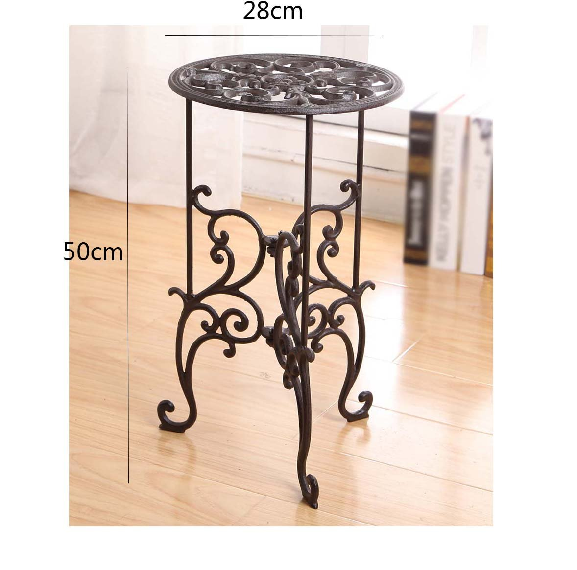 AIDELAI European cast iron flower rack shelves home flower pots decorative ornaments Patio Garden Pergolas by AIDELAI