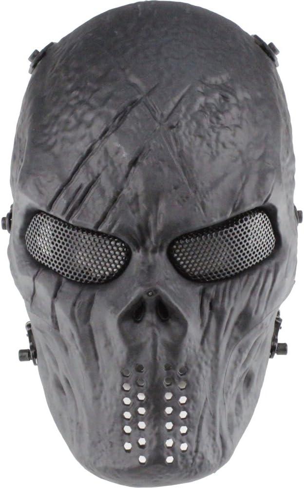 GES Cara del cráneo Máscara de Airsoft Paintball al Aire Libre protección Militar Completa del Partido del Traje de Halloween BB Pistola de CS Juego de Guerra