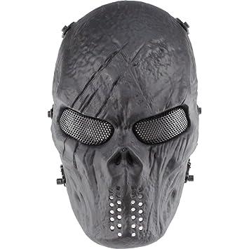 GES cara del cráneo Máscara de Airsoft Paintball al aire libre ...