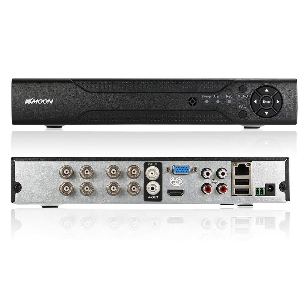 KKmoon DVR 16 Canales AHD HVR/ NVR Full 1080N/720P HDMI P2P, Grabador de Video Digital, Onvif, Soporta Disco Duro, Plug y Play, Android/iOS APP, Detecció n de Movimiento, Email Alarma, PTZ para 2000TVL CCTV Cá mara de Vigilancia