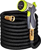 50ft Expandable Garden Hose - IMPROVED Water Hose with Double Latex Core, 3/4